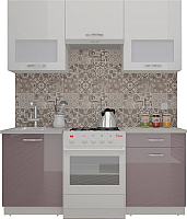 Готовая кухня ВерсоМебель ЭкоЛайт-5 1.6 (белый/глициния) -