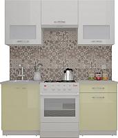 Готовая кухня ВерсоМебель ЭкоЛайт-5 1.6 (белый/ваниль) -