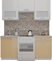 Готовая кухня ВерсоМебель ЭкоЛайт-5 1.6 (белый/капучино) -