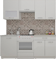 Готовая кухня ВерсоМебель ЭкоЛайт-5 1.9 (белый/белый) -