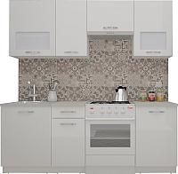 Готовая кухня ВерсоМебель ЭкоЛайт-5 2.0 (белый/белый) -