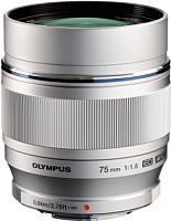 Портретный объектив Olympus M.Zuiko Digital ED 75mm f1.8 (серебристый) -
