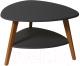 Журнальный столик Калифорния мебель Бруклин (графит) -