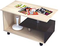 Журнальный столик Тэкс Консул-5 (дуб молочный/венге) -