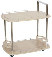 Сервировочный столик Калифорния мебель Банкет (дуб белёный) -