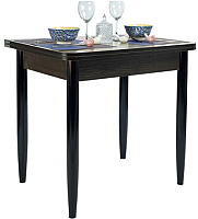 Обеденный стол Рамзес Ломберный ЛДСП 60x80 (дуб сонома темный/ноги конусные венге) -