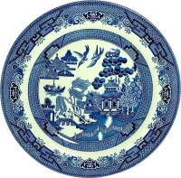 Тарелка столовая мелкая Churchill Blue Willow / WBMBP26M3 -