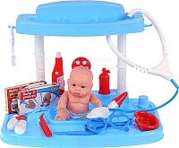 Набор доктора детский Играем вместе Доктор с пупсом в чемодане / ZY682701-R -