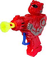 Набор мыльных пузырей Bondibon Наше Лето. Пистолет для мыльных пузырей. Робот / ВВ2774 -
