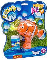 Набор мыльных пузырей Bondibon Наше Лето. Пистолет для мыльных пузырей. Рыбка / ВВ2778 -