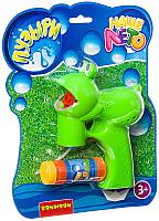 Набор мыльных пузырей Bondibon Наше Лето. Пистолет для мыльных пузырей. Лягушка / ВВ2782 -