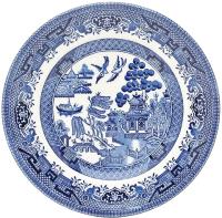 Тарелка закусочная (десертная) Churchill Blue Willow / WBMBP17M2 -