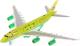Самолет игрушечный Технопарк Авиалайнер S7 / 91002S-R-GN -
