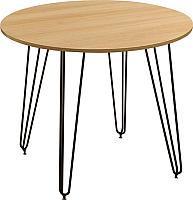 Обеденный стол Nowy Styl Aller Black H18 90x75 (дуб нагано) -
