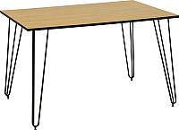 Обеденный стол Nowy Styl Aller Black H18 120x80x75 (дуб камен/черный) -