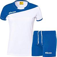 Форма волейбольная Mikasa MT376-018-2XL (белый/синий) -