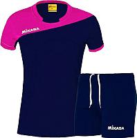Форма волейбольная Mikasa MT376-063-2XL (фуксия/темно-синий) -