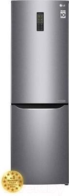 Холодильник с морозильником LG GA-B379SLUL