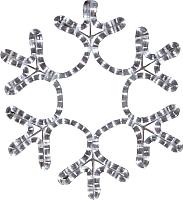Светодиодная фигура 2D Neon-Night Снежинка 501-212-1 -