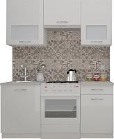 Готовая кухня ВерсоМебель ЭкоЛайт-6 1.7 (белый/белый) -