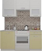 Готовая кухня ВерсоМебель ЭкоЛайт-6 1.7 (белый/бежевый) -