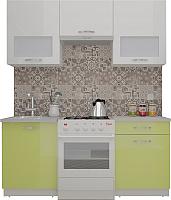Готовая кухня ВерсоМебель ЭкоЛайт-6 1.7 (белый/лайм) -