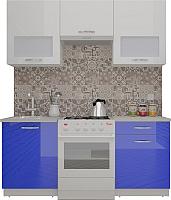 Готовая кухня ВерсоМебель ЭкоЛайт-6 1.7 (белый/глубокий синий) -