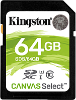 Карта памяти Kingston Canvas Select SDS/64GB SDXC 64GB -