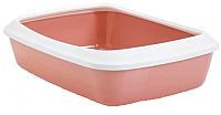 Туалет-лоток Savic Iriz 50 02640WPE (светло-розовый/белый) -