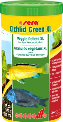 Купить Корм для рыб Sera, Cichlids Green XL / 213 (1л), Германия