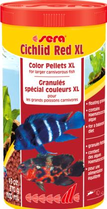 Купить Корм для рыб Sera, Cichlids Red XL / 214 (1л), Германия