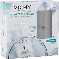 Набор косметики для лица Vichy Purete Thermale мицеллярный 3 в 1 + контейнер д/ватных дисков -