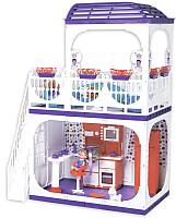 Кукольный домик Огонек Конфетти / С-1334 (без мебели) -