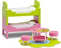 Комплект аксессуаров для кукольного домика Lundby Детская с 2 кроватями / LB-60209700 -