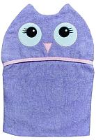 Полотенце с капюшоном Alis Цветная коллекция. Сова (75x110, махра) -