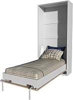 Шкаф-кровать Интерлиния Innova V90 (бетон/белый) -