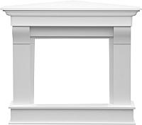 Портал для камина Смолком Albion Corner V23 (бьянко белый) -