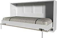 Шкаф-кровать Интерлиния Innova H90 (вудлайн/белый) -