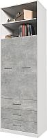 Шкаф Интерлиния Innova V01 (бетон/белый) -