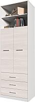 Шкаф Интерлиния Innova V01 (вудлайн/белый) -