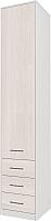 Шкаф-пенал Интерлиния Innova V02 (вудлайн/белый) -