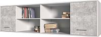 Шкаф навесной Интерлиния Innova H07 (бетон/белый) -