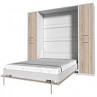 Комплект мебели для спальни Интерлиния Innova V140-2 (дуб сонома/белый) -