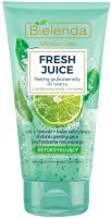 Скраб для лица Bielenda Fresh Juice лайм интенсивный детоксифицирующий (150г) -