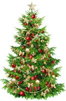 Штора для праздника Bondibon Штора - Новогодняя Елка / ВВ2057 -