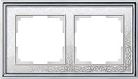 Рамка для выключателя Werkel Palacio WL77-Frame-02 (хром/белый) -