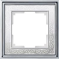 Рамка для выключателя Werkel Palacio WL77-Frame-01 (хром/белый) -