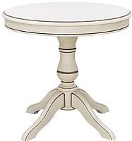 Обеденный стол Castor Баджо-К (беленый бук/бронзовая патина) -