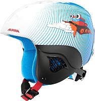 Шлем горнолыжный Alpina Sports Carat Snowcat / A9035-88 (р-р 48-52, белый/голубой) -