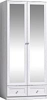 Шкаф Глазов Paola 73 2-х дверный с зеркалом (ясень анкор светлый) -